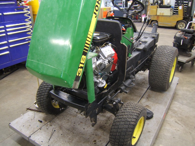 John Deere 318 repowered with a 23 hp Vanguard engine