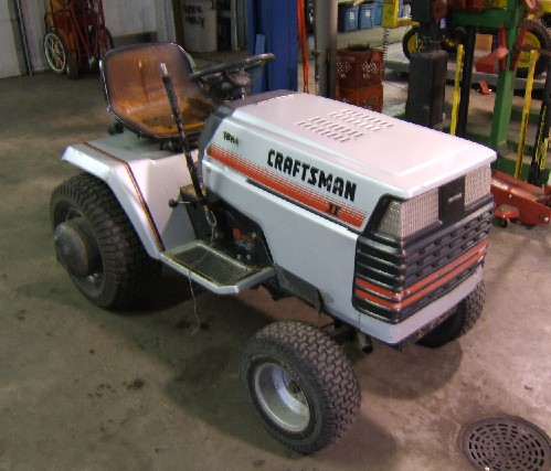 Another popular garden tractor - Craftsman
