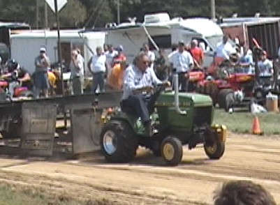 Jim at a Garden Tractor Pull