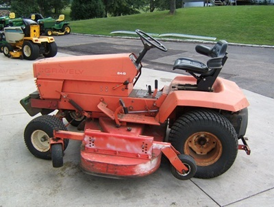 We mow with this Gravely